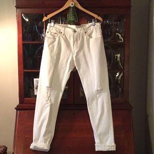 Women's Levi's 501 sz 28 white jeans